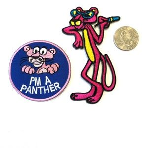 """Pink Panther Iron On Cartoon Embroidered Shirt Bag Applique Badge Patch 4.7/"""""""